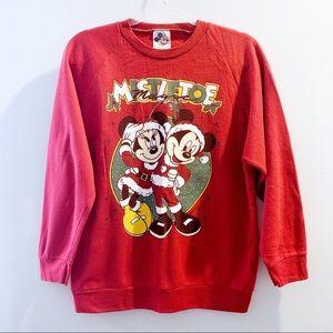 Vintage Disney Christmas Sweatshirt Size M